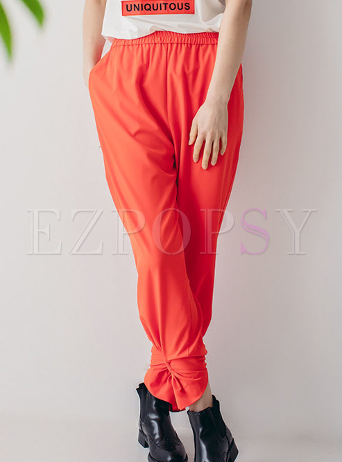 Chic High Waist All-matched Casual Harem Pants