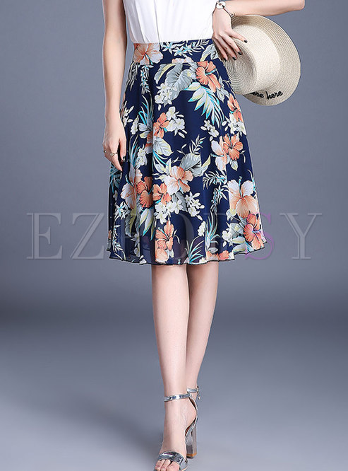 Stylish Hit Color Multi-color All-matched Skirt