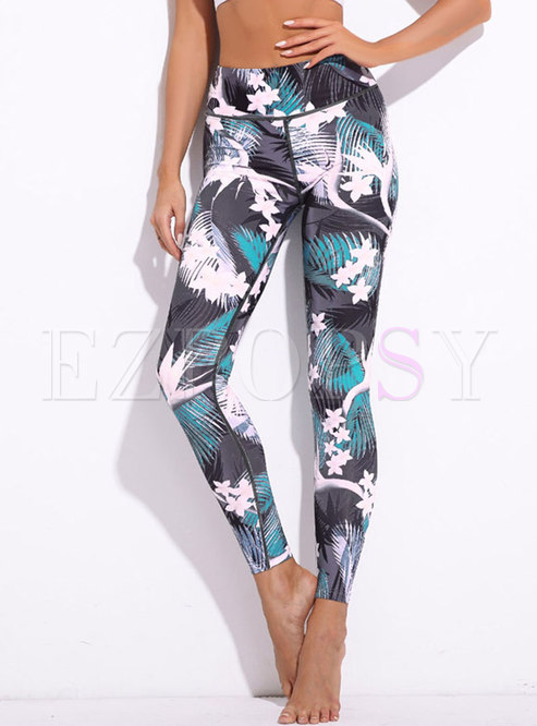 Stylish Color-blocked Tight Yoga Pants