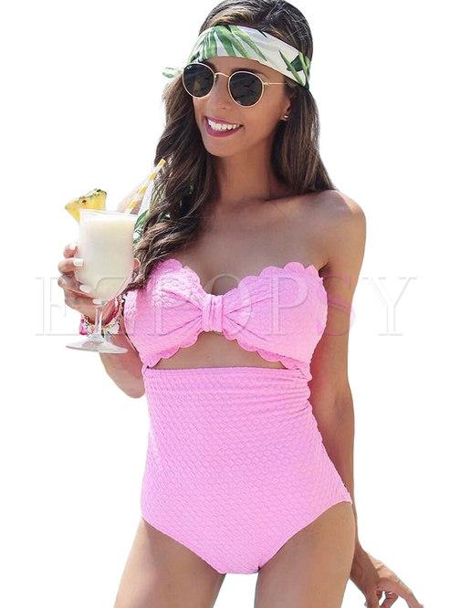 Sexy Bandeau High Waist Bikini