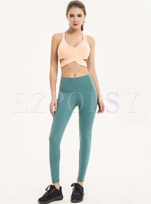 Trendy Hollow Out Slim Comfortable Yoga Tracksuit