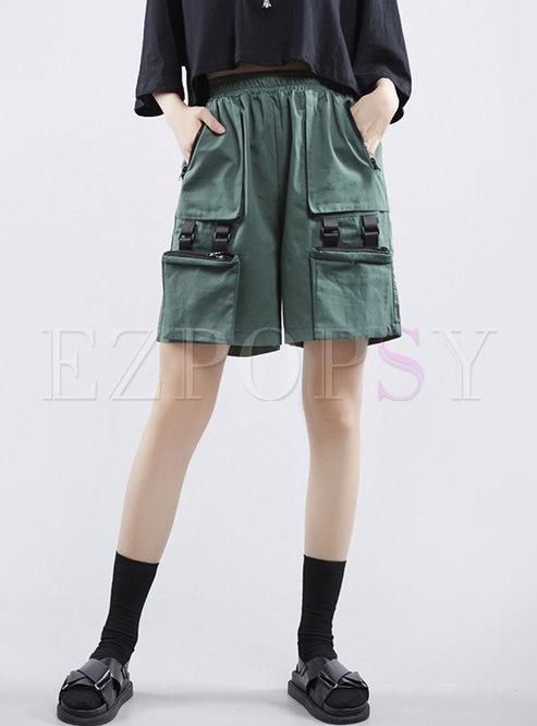 Summer Loose Multi-pocket Cotton Cargo Pants
