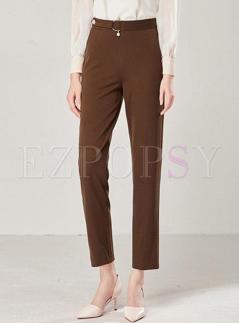 Solid Color High Waist Slim Loose Harem Pants