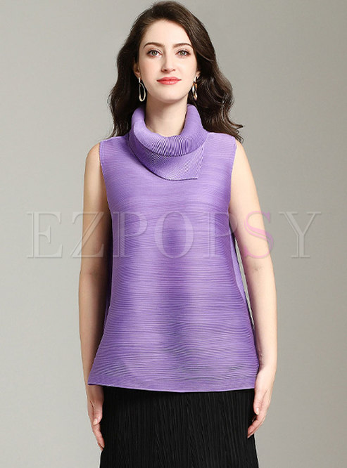Casual Turn-down Collar All-matched T-shirt