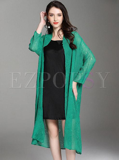 Pure Color Pleated Thin Sun-protective Coat