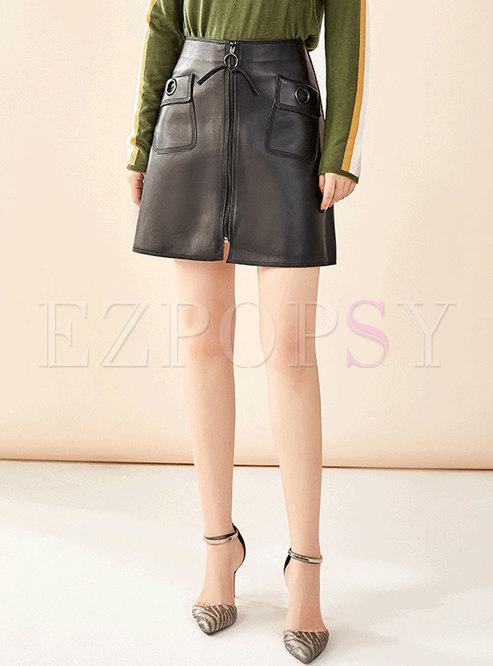 Brief All-matched High Waist Slim Skirt