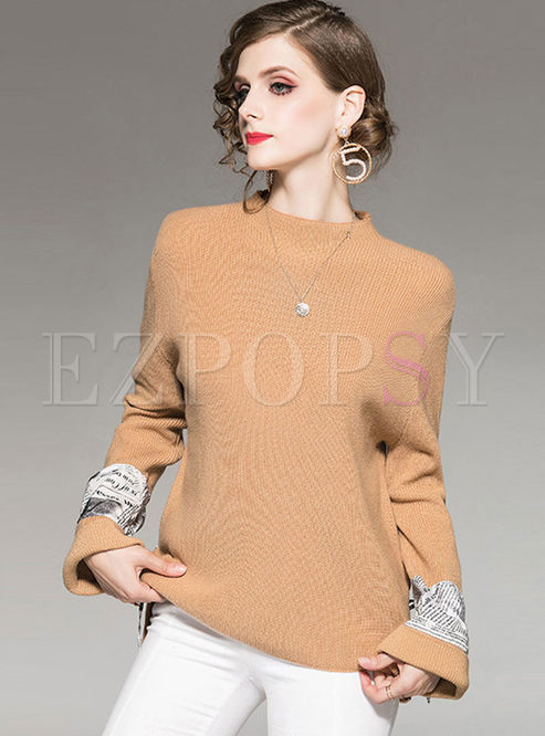 Long Sleeve Loose Pullover Sweater