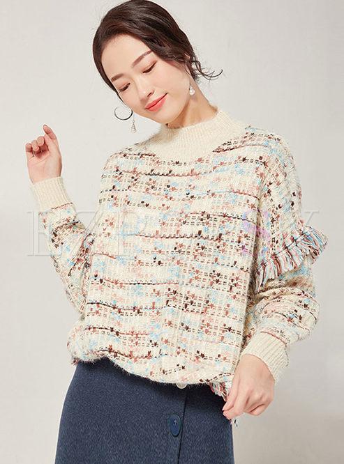 Half Turtleneck Loose Pullover Sweater