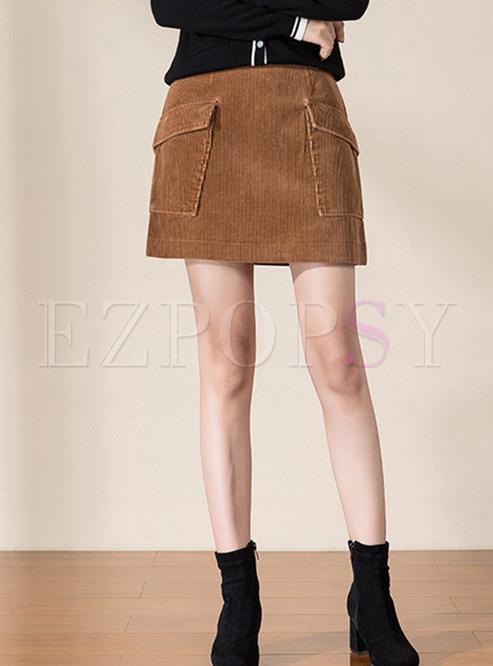 Casual Patchwork A Line Short Dress