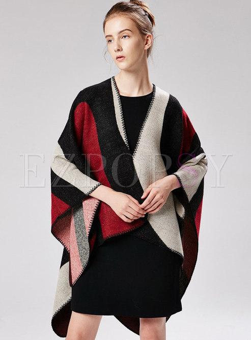 Fashion Print Thick Cloak Scarf