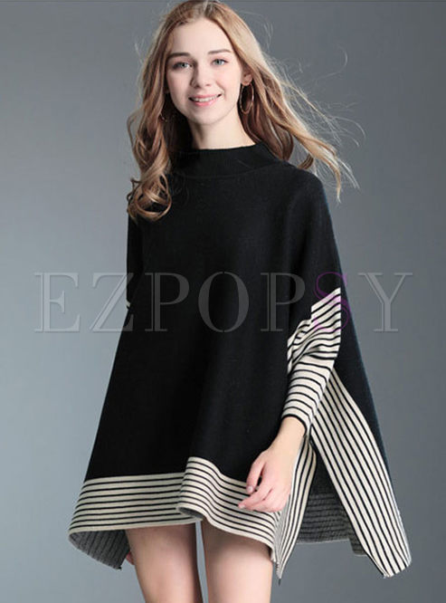 Plus Size Asymmetric Hem Sweater