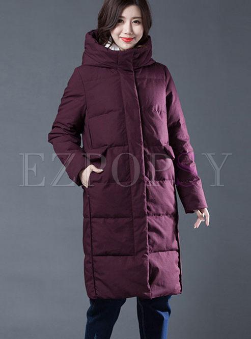 Hooded Long Duck Down Puffer Coat