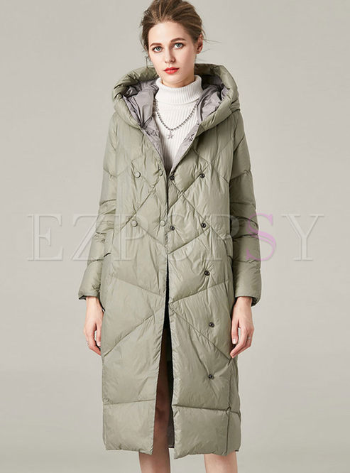 Long Sleeve Loose Lightweight Down Coat