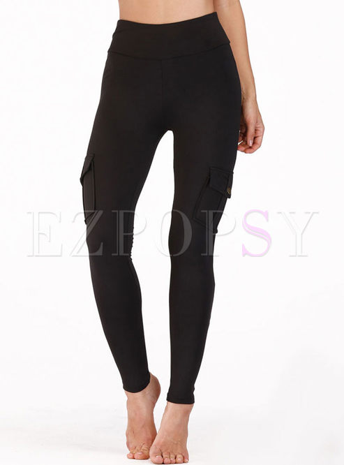 Solid Color High Waisted Tight Yoga Pants