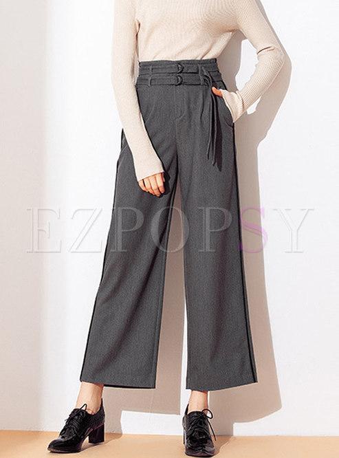 High Waisted Wide Leg Pants