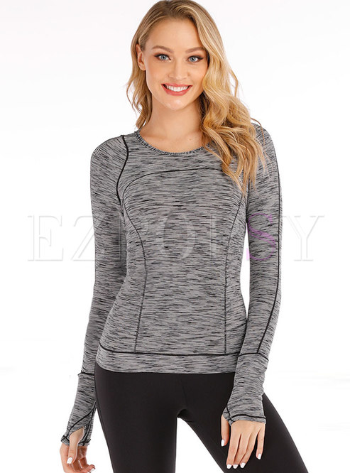 Crew Neck Pullover Slim Fitness T-shirt