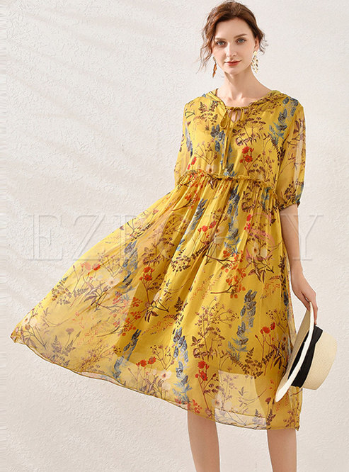 Plus Size Hooded Print Shift Dress