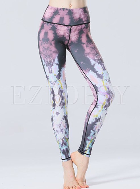 High Waisted Tight Print Yoga Pants