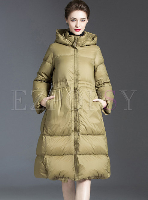 Removable Hooded Plus Size Puffer Coat