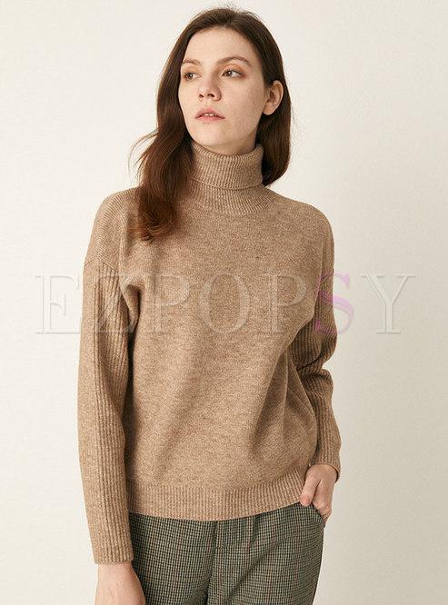 Turtleneck Loose Short Pullover Sweater