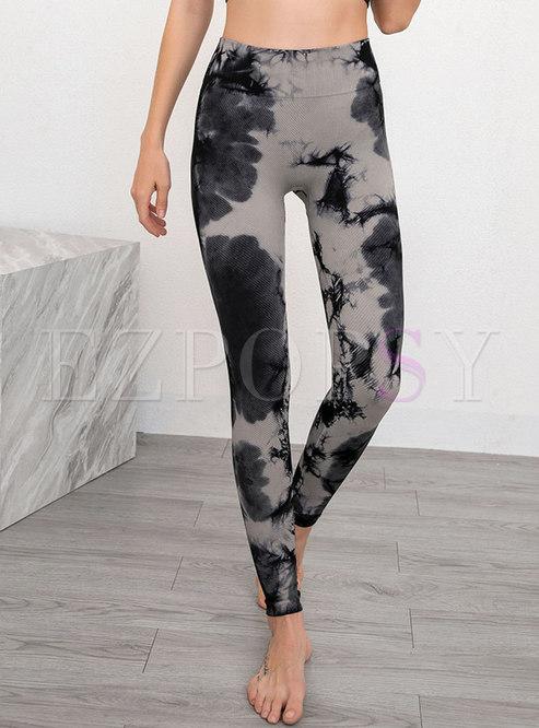 High Waisted Print Tight Yoga Pants