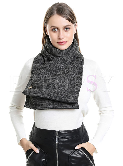 Solid Faux Cashmere Scarf With Pockets