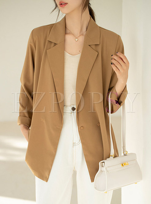 Long Sleeve Straight Lightweight Blazer