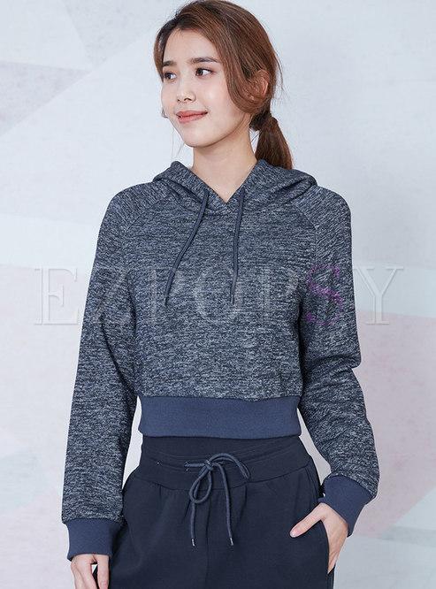 Hooded Loose Pullover Sport Sweatshirt