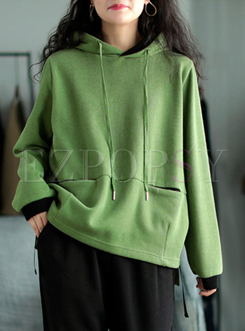 Casual Pullover Loose Hoodie With Pockets