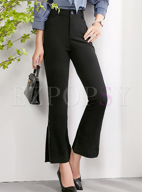 Casual High Waisted Flare Pants