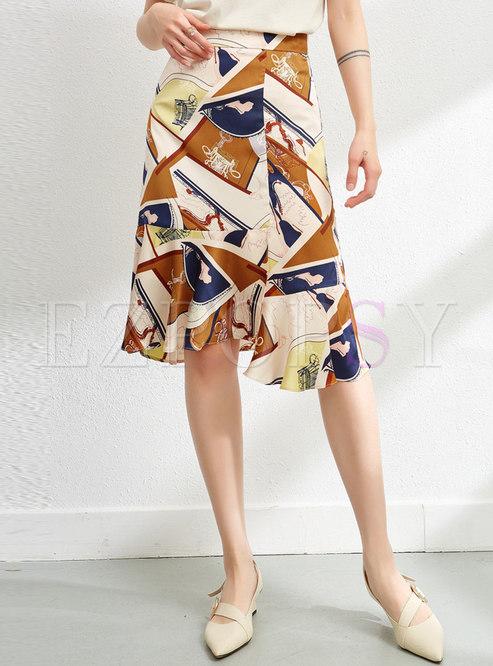 Chic Multi A-Line Irregular Skirt