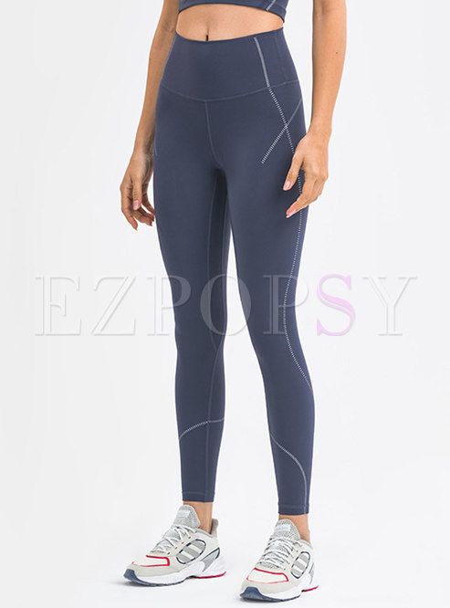 Brief Print Breathable Active Leggings