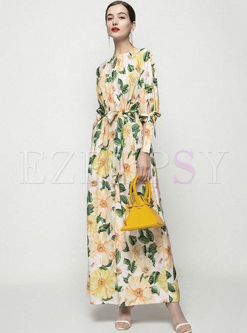 Elegant Half Sleeve Chiffon Wrap Jumpsuits