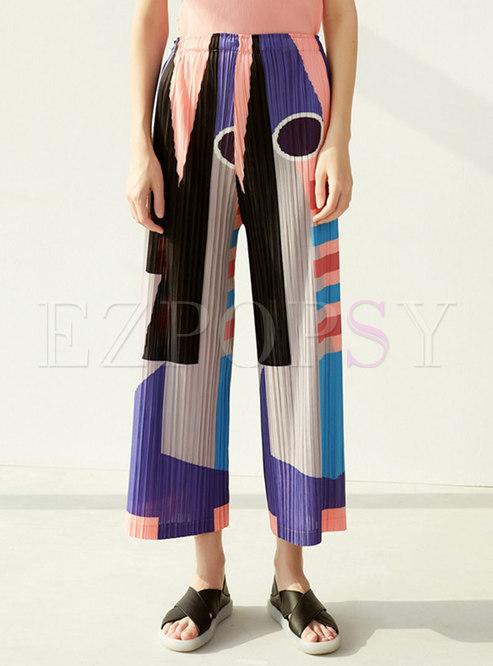 Multi Soft Pleated Wide Leg Pants