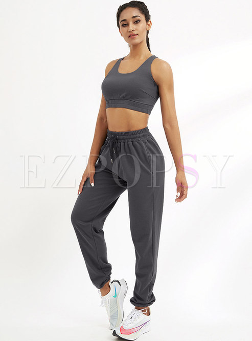 Solid Crew Active Bra & Breathable Drawstring Joggers