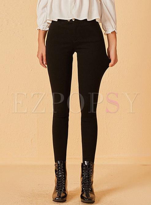 Black High Waisted Stretchy Leggings