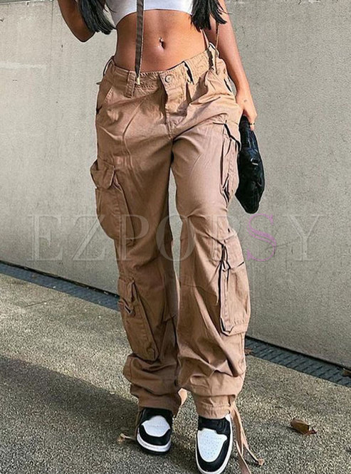 Vintage Low Rise Cargo Jeans