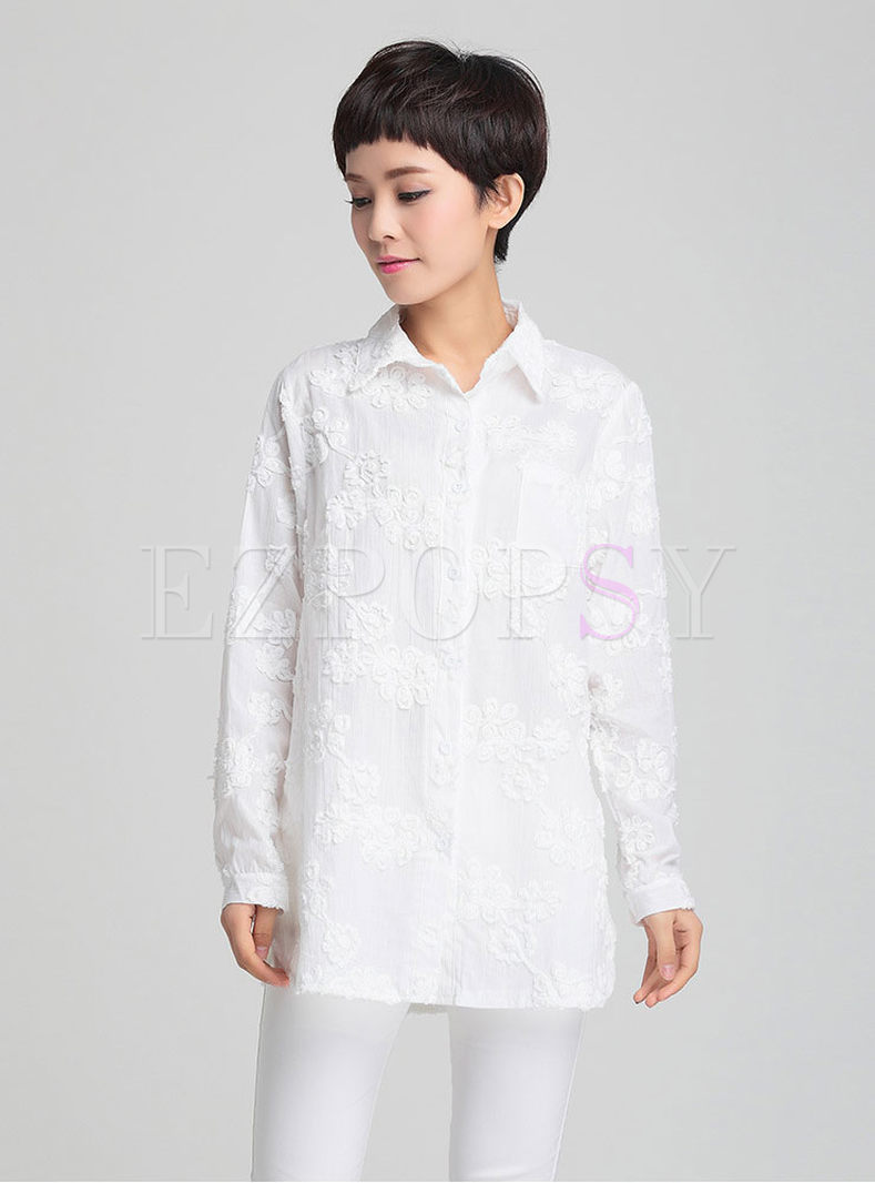 High quality womens fresh white blouse for Womens white shirts high quality