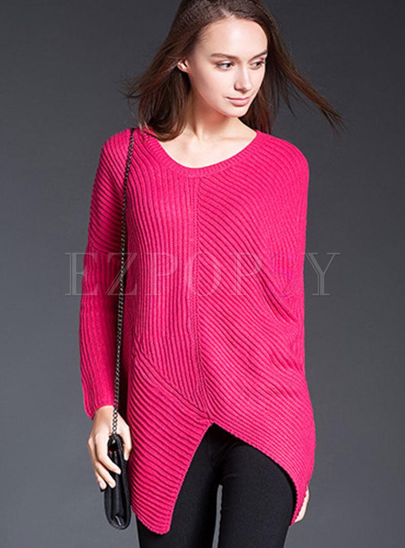Casual Bat Sleeve Loose Sweater