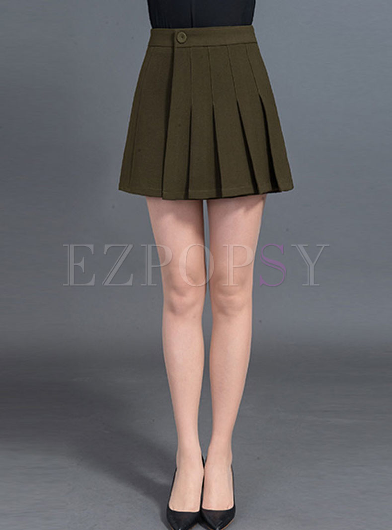 Stylish Asymmetric Slit A-line Skirt