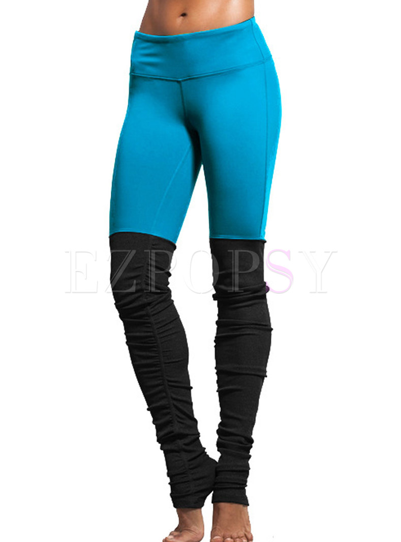 Stylish Elastic Dry Fit Patchwork Yoga Fitness Pants
