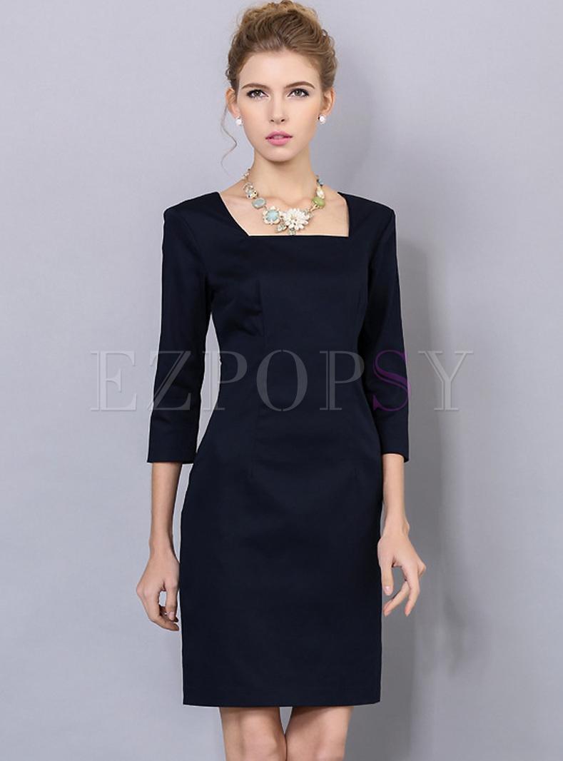 Galerry sheath dress square neck