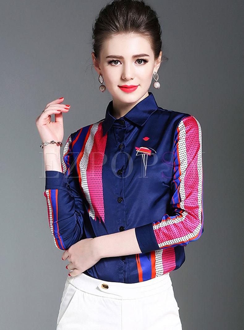 Stylish Silk Long Sleeve Blouse