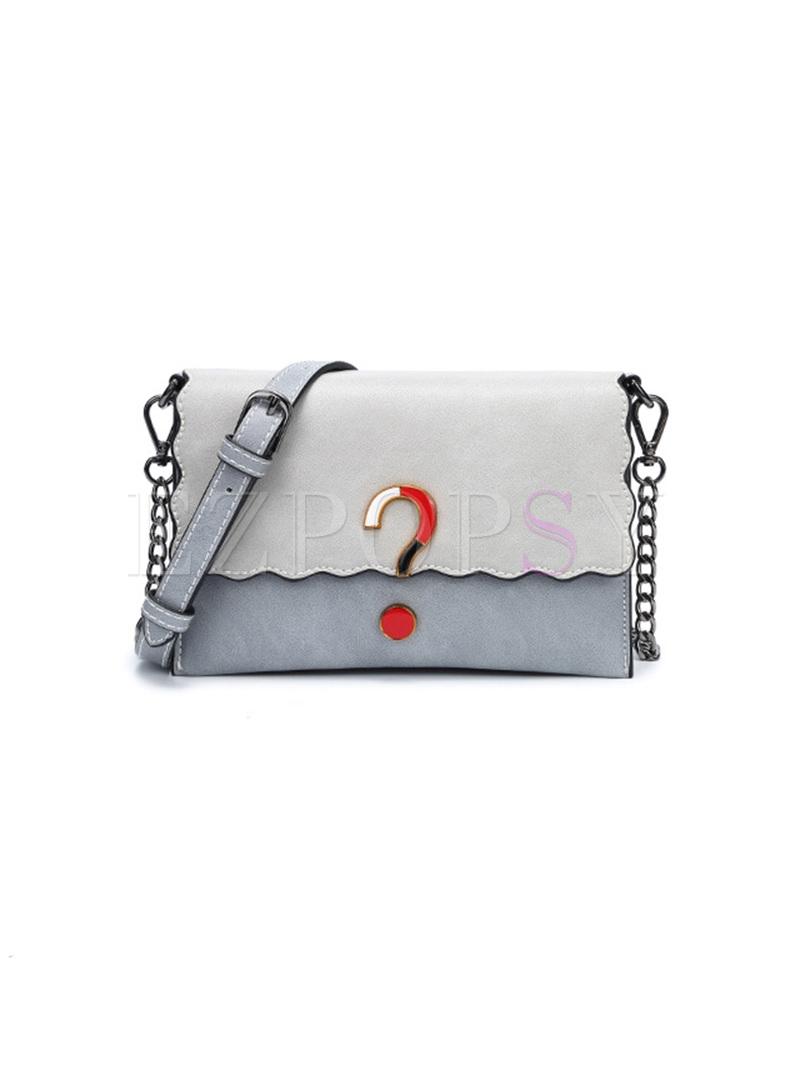Brief Color-blocked Crossbody Bag