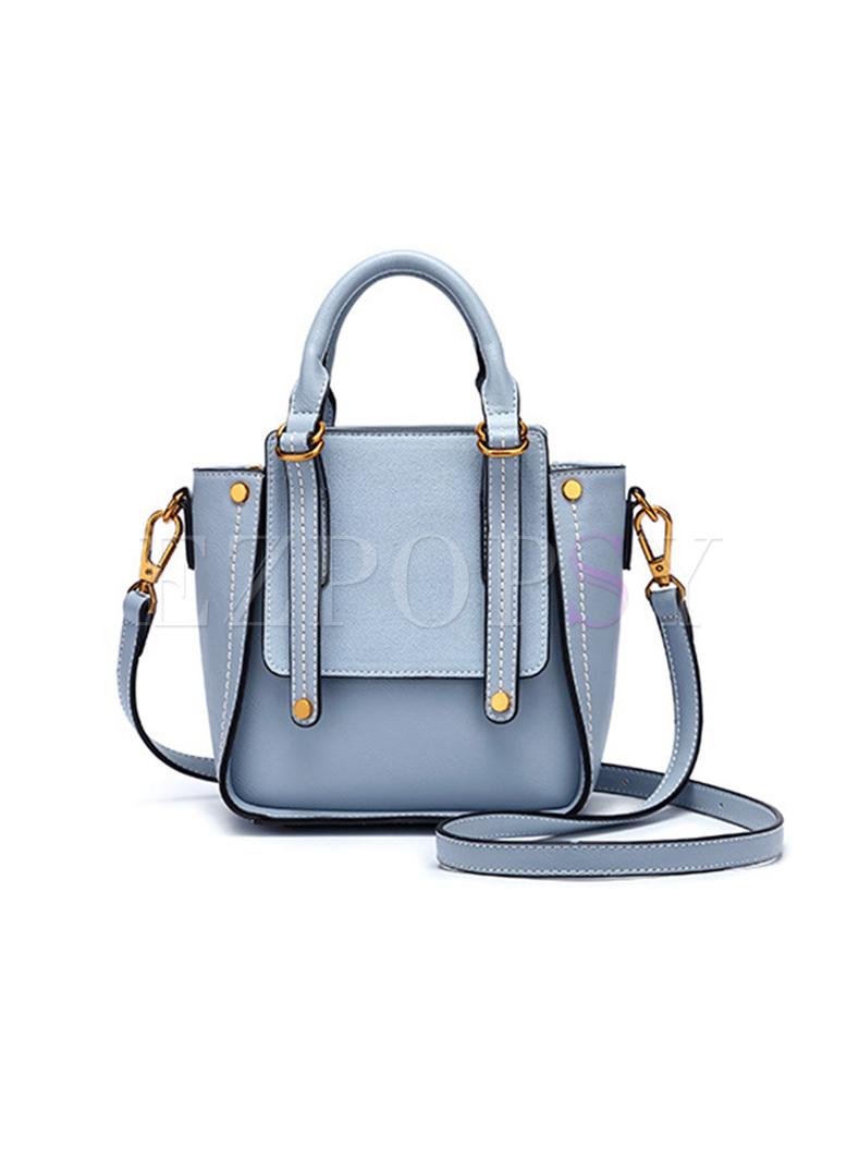 Street Blue Top Handle & Crossbody Bag