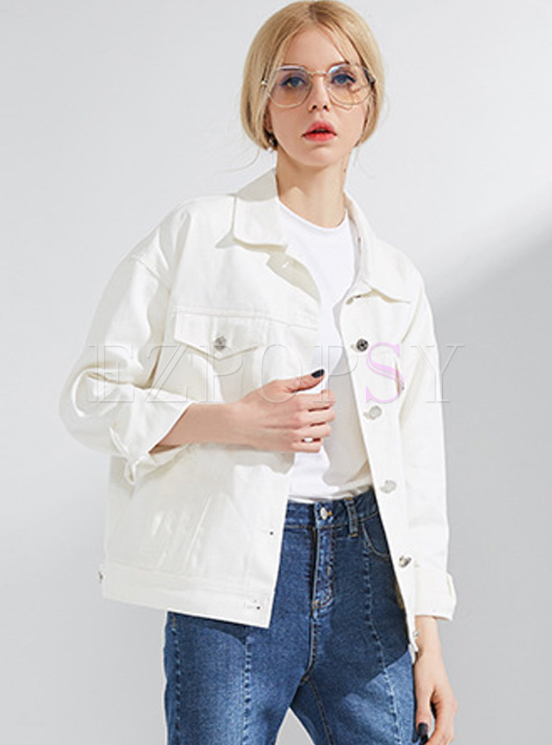 White Street Letter Pattern Coat