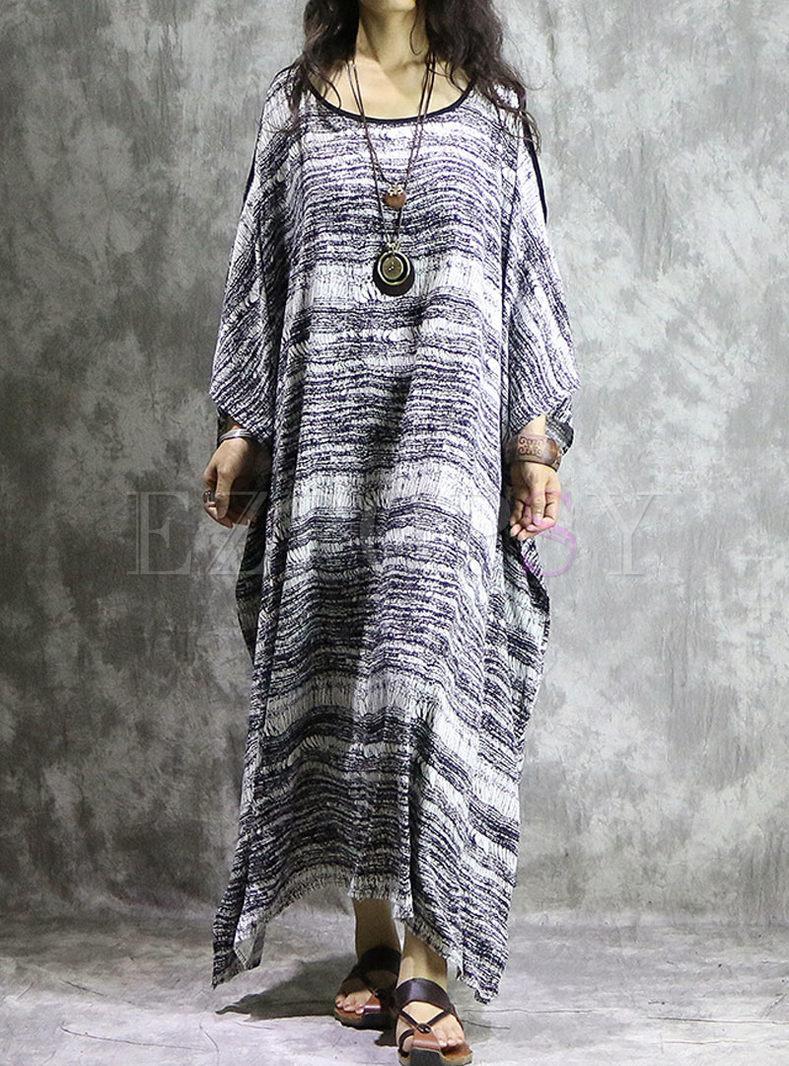 Casual Cotton Plus Size Long Dress
