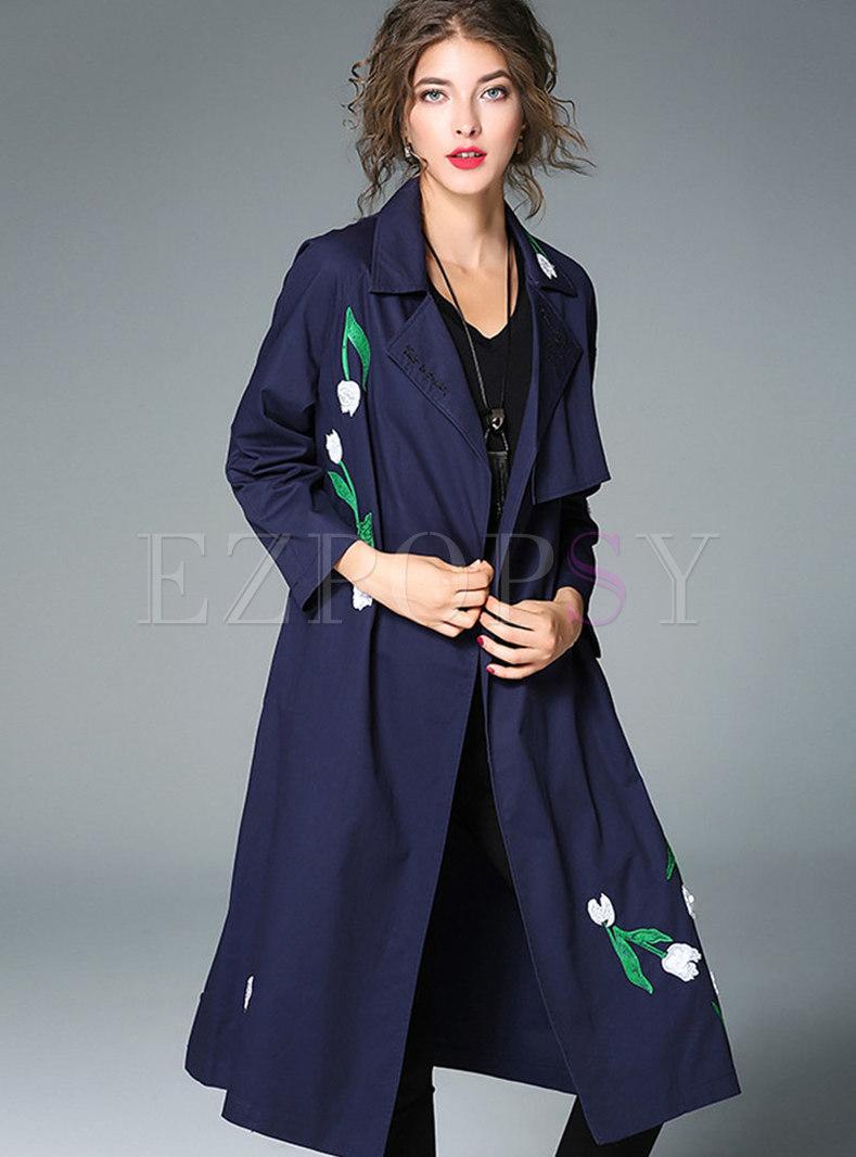 Elegant Tie-waist Trench Coat