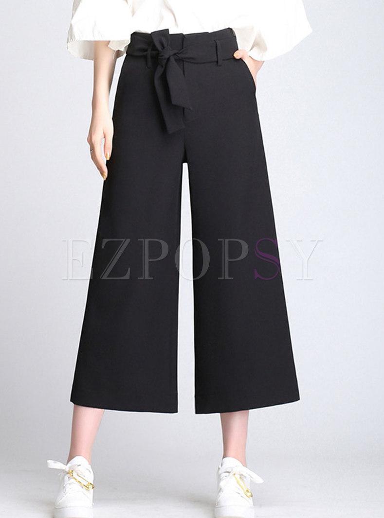 Shift Daily Black High Waist Wide Leg Pants
