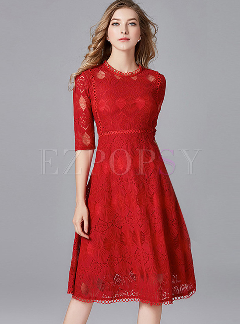 5ba42bacf494 Lace Cocktail Dress With Sleeves - raveitsafe